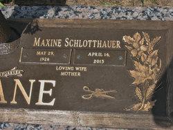 Maxine Mae <i>Schlotthauer</i> Drane