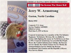 Corp Jerry Winfred Armstrong
