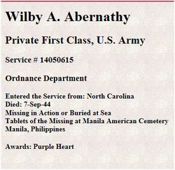 PFC Wilby Alton Abernathy