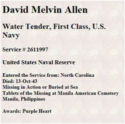 WT1C David Melvin Allen