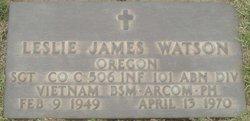 Sgt Leslie James Watson