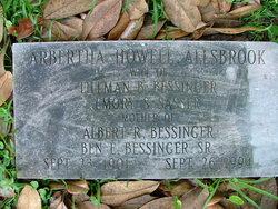 Albertha Howell Bertha Allsbrook