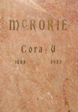 Cora Evelyn <i>Vanderburg</i> McRorie