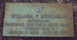 William F Bohlman
