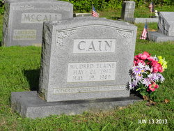 Mildred Elaine <i>Crowder</i> Cain