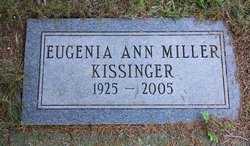 Eugenia Ann <i>Miller</i> Kissinger