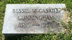 Elizabeth Bessie <i>McCaskill</i> Cunningham