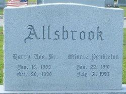 Minnie Virginia <i>Pendleton</i> Allsbrook