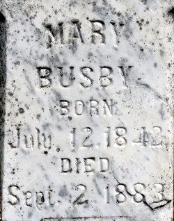 Mary Ann <i>Holt</i> Busby