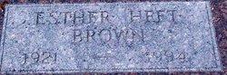 Esther <i>Heft</i> Brown