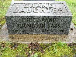 Phebe Anne <i>Thompson</i> Bass