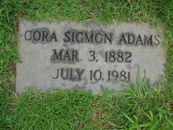 Cora <i>Sigmon</i> Adams