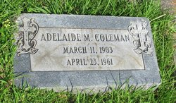 Adelaide <i>Mathews</i> Coleman