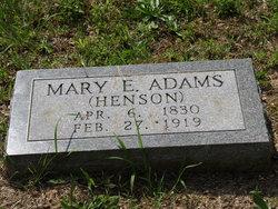 Mary Elizabeth <i>Henson</i> Adams