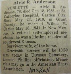 Alvie Riley Anderson
