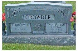 Cynthia Lynn <i>Renfrow</i> Crowder
