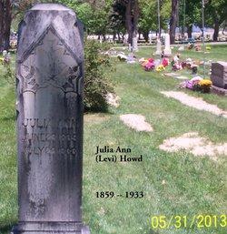 Julia Ann <i>Levi</i> Howd