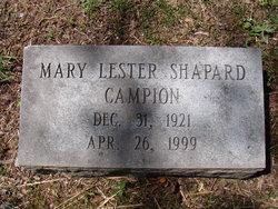 Mary Lester <i>Shapard</i> Campion
