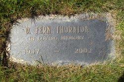 Mrs Delma Fern Fern <i>Martin</i> Thornton