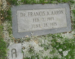 Dr Francis A. Aaron