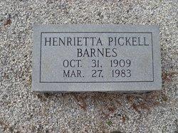Henrietta <i>Pickell</i> Barnes