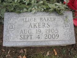 Alice B. Gigi <i>Baker</i> Akers