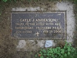 Gayle J <i>Nelson</i> Anderson