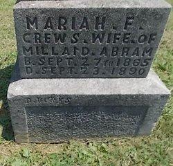 Mariah F. <i>Crews</i> Abram