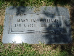 Mary Fae <i>Fulton</i> Williams