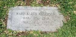 Mary Annette <i>Kurth</i> Anderson