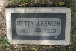Eliza Jane Betty <i>Henderson</i> Kewish