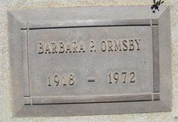 Barbara P Ormsby