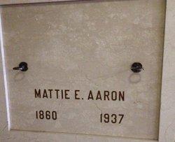 Mattie E. <i>Clark</i> Aaron