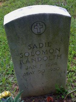 Sadie <i>Solomon</i> Randolph