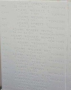 Sgt Troulius Adams