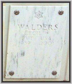 Cecil W Walders