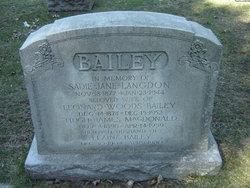 Sadie Jane <i>Langdon</i> Bailey