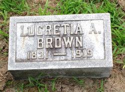 Lucretia A Brown