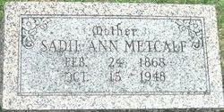 Sarah Ann Sadie <i>Rector</i> Metcalf