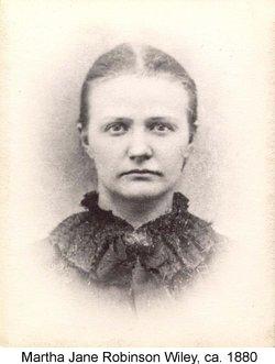 Martha Jane Mattie <i>Robinson</i> Wiley