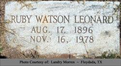 Ruby Fay Watson <i>Appling</i> Leonard