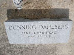 Jane Craighead <i>Dunning</i> Dahlberg