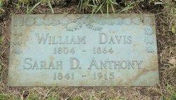 Sarah Rebecca <i>Davis</i> Anthony