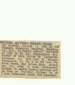 Ulysses Grant Watson