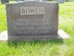 Minnie Mary <i>Hinckley</i> Bowen