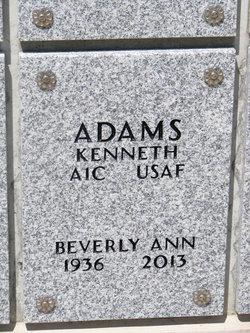 Beverly Ann <i>Duncan</i> Adams