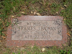 Frances Josephine <i>Ellis</i> Bauman