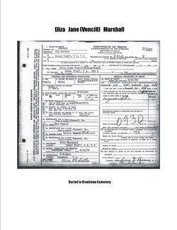 Eliza Jane <i>Vencill</i> Marshall