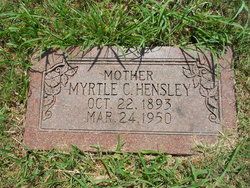 Myrtle <i>Capehart</i> Hensley
