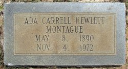Ada Carrell <i>Hewlett</i> Montague
